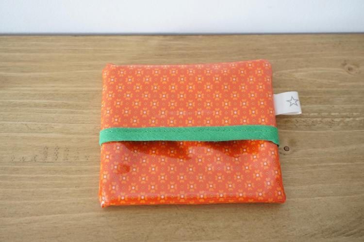 Pochette orange & verte