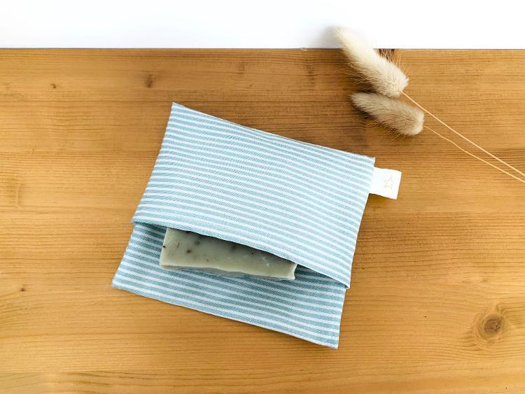 Etui / Pochette à savon imperméable - Rayures -