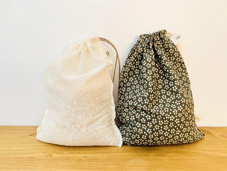Lot de 2 petits sacs à vrac pour céréales et légumineuses