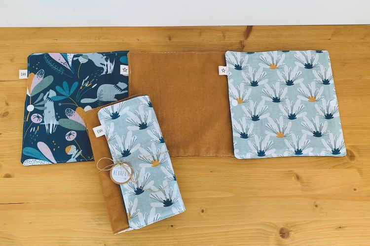 Essuie-tout lavable 6 feuilles BLEU