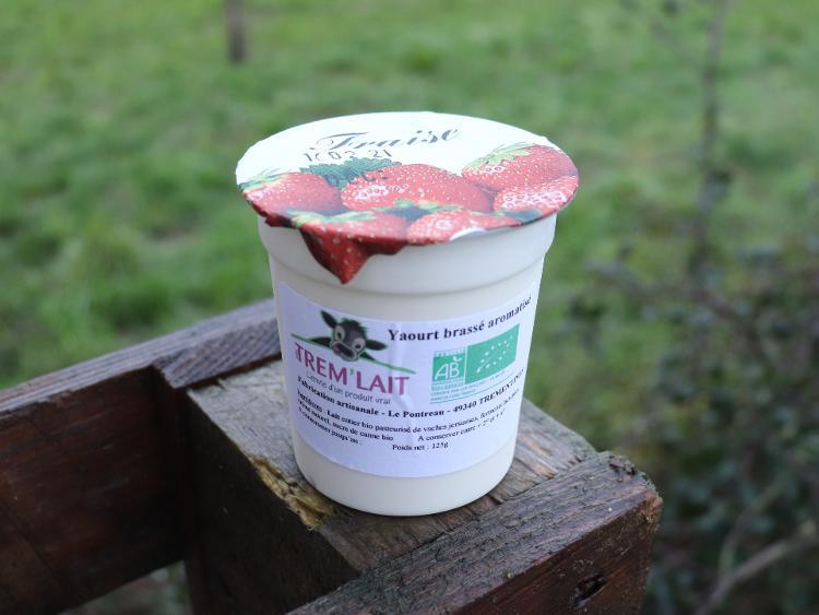 Yaourt brassé fraise 100 grs - 200 (pro)