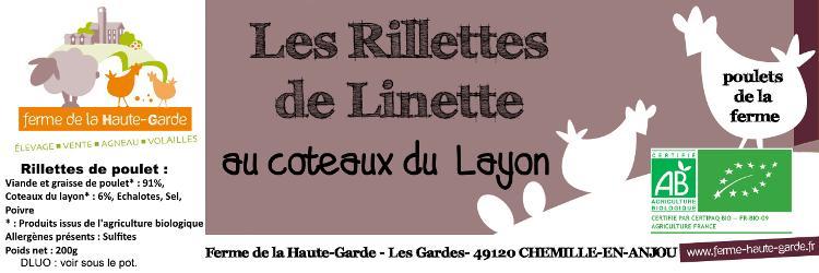 Rillettes de volailles Layon-Echalotes - Nouvelle recette!!!