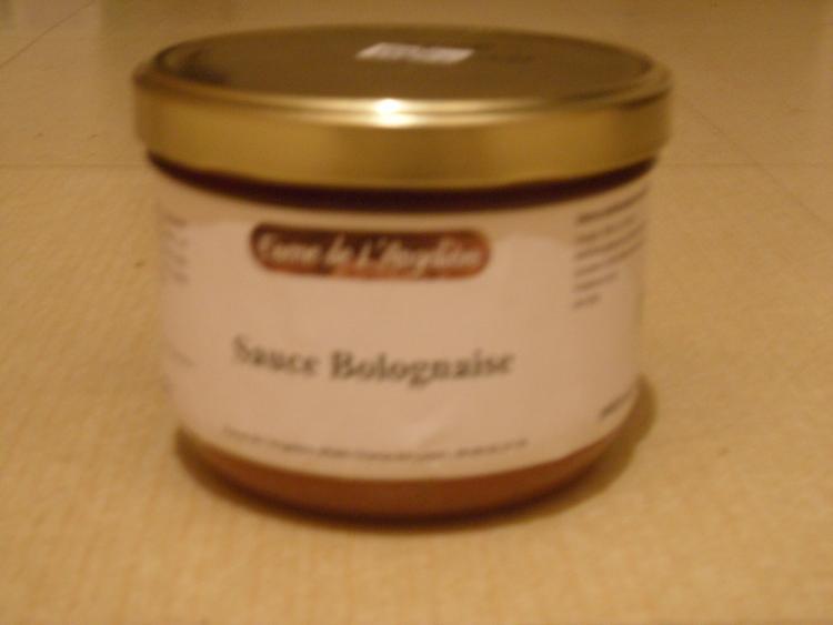 Sauce bolognaise 425 gr, disponible aux dates boeuf et veau