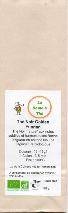 La Boule à Thé noir Golden Yunnan 80 g