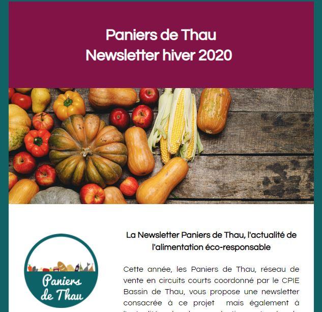 Retrouvez la newsletter hiver 2020 des Paniers de Thau !