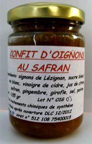 CONFIT D'OIGNON AU SAFRAN 150g
