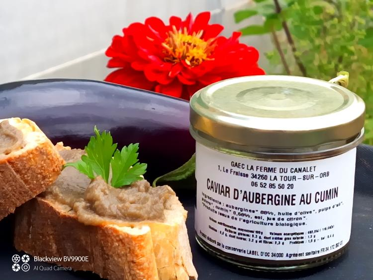 Caviar d'aubergine au cumin AB