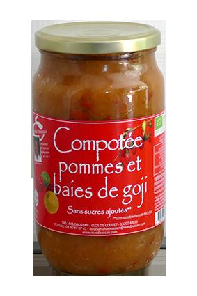 COMPOTEE POMMES-BAIES DE GOJI 820G