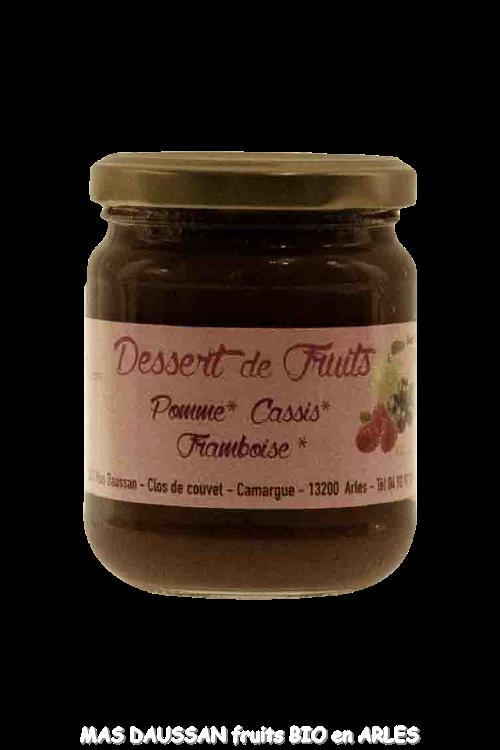 DESSERT DE FRUITS 210 GR FRAMB/CASSIS