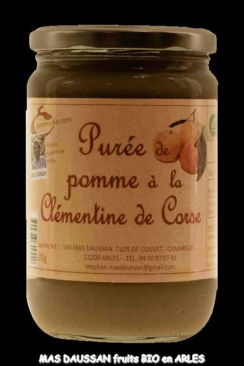 PURÉE DE POMME ET CLÉMENTINE CORSE 620 GR
