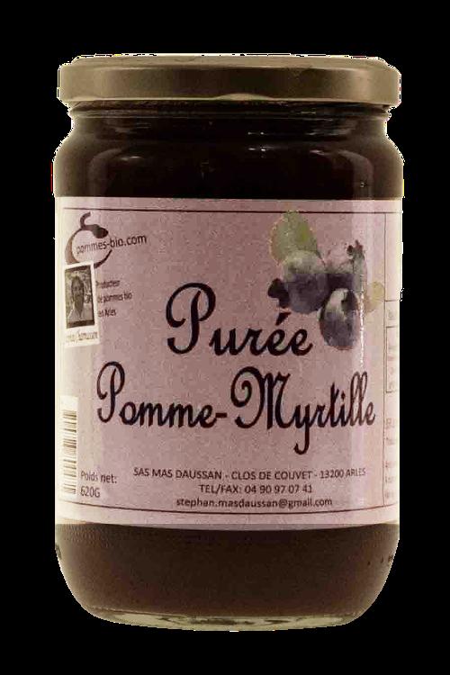 PUREE DE POMMES MYRTILLE 620 GR