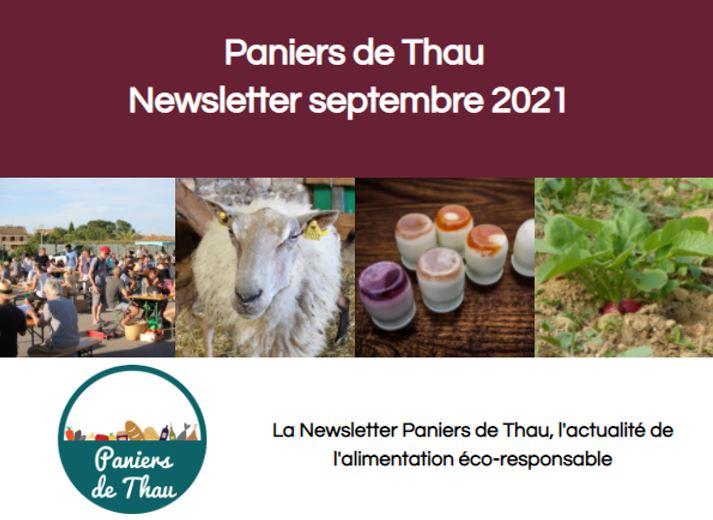 Consultez la newsletter Paniers de Thau !
