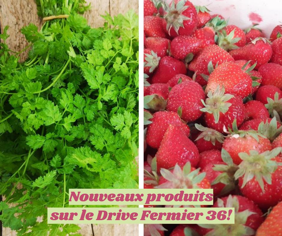 Nouveaux produits sur le Drive Fermier 36