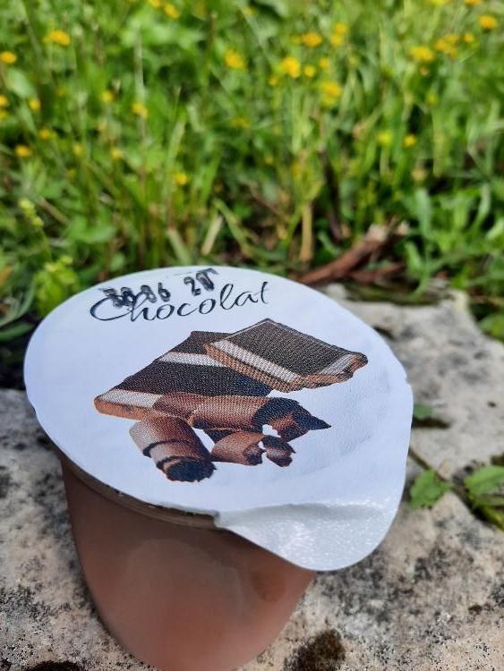 FLAN CHOCOLAT 125 gr LA VACHE BRENNOUSE Ferme du Maupas