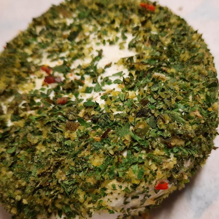 CROTTIN frais saveurs ails et fines herbes 125 gr LA VACHE BRENNOUSE Ferme du Maupas