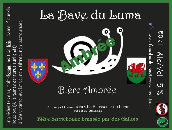 """""""La Bave du Luma"""" Bière Ambrée 50cl X3 Brasserie du Luma"""