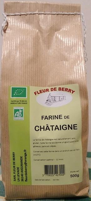 Farine de châtaigne - SARL FLEUR DE BERRY