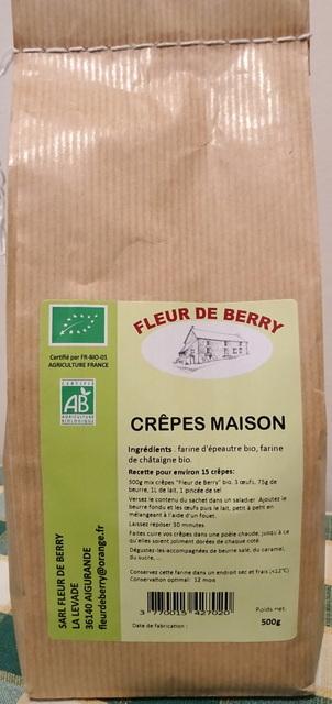 Crêpes maison (épeautre/châtaigne) - SARL FLEUR DE BERRY