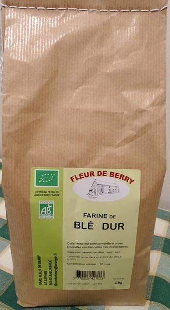 Farine de blé dur - SARL FLEUR DE BERRY