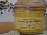 FOIE GRAS DE CANARD ENTIER CONSERVE - Bocal 180 gr.  FERME DU PRÉ VERT