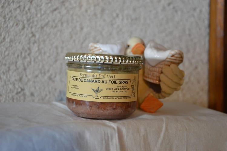 Pâté de canard au foie gras  Bocal 180 gr. FERME DU PRÉ VERT