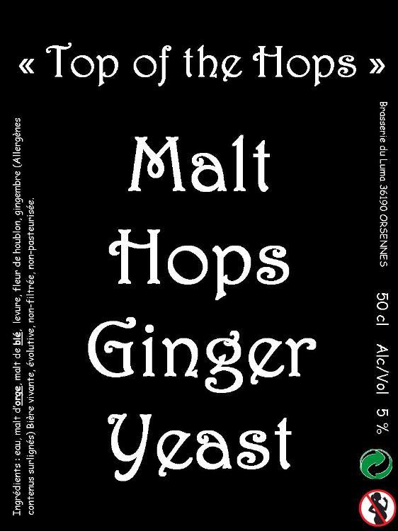 """""""Top of the hops"""" Bière au gingembre 3 x 50cl Brasserie du luma"""