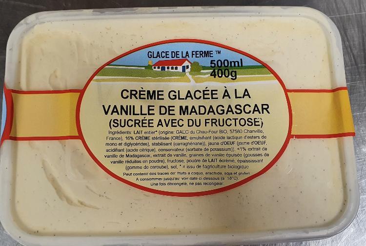 Crème glacée vanille pour diabétique 500ml