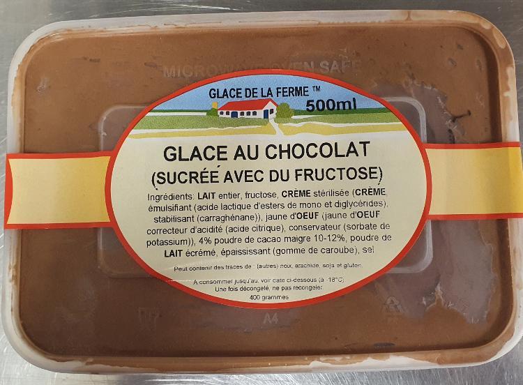 Crème glacée chocolat pour diabétique 500ml