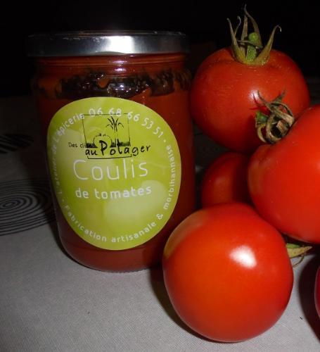 Coulis de tomates et basilic