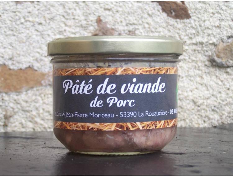 Pâté de viande - porc 190 g - Ferme la Janvrie - C & JP Moriceau