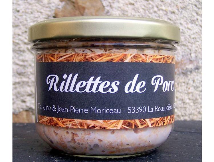 Rillettes de porc 190 g - Ferme la Janvrie - C & JP Moriceau