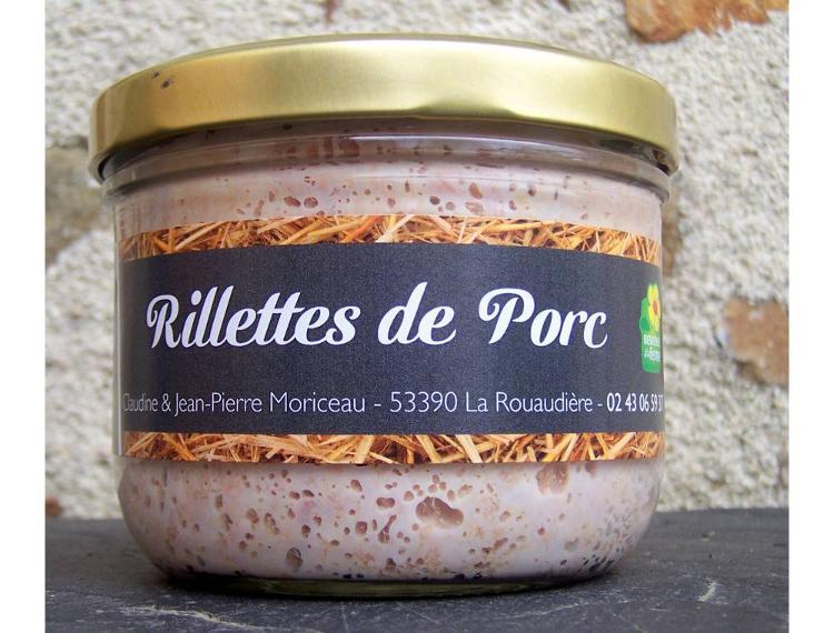 Rillettes de porc 380 g + 1 recette - Ferme La Janvrie - C & JP Moriceau