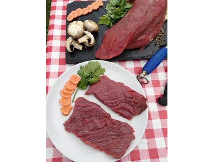 Steaks de b½uf *** par 4 race blanc bleu (600g)