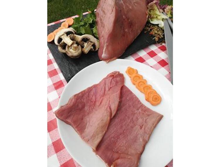 Escalopes de veau dans la noix *** par 2 (260 g)