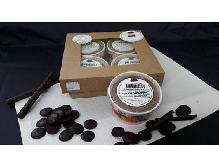 Pot 70ml Glace Chocolat par lot de 4