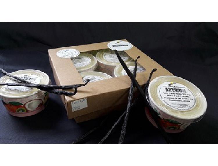 Pot 70ml Glace Vanille de Madagascar par lot de 4