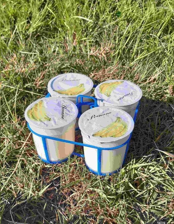 4 yaourts brassés à la BANANE au lait de chèvre
