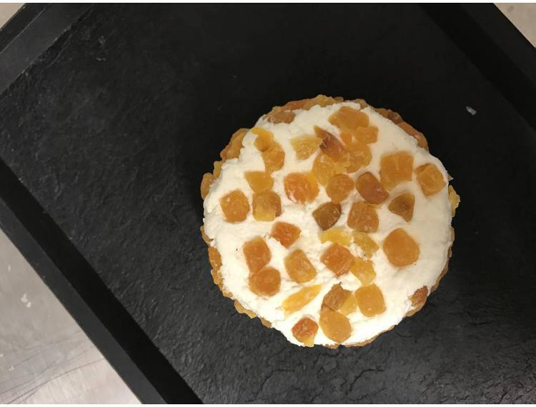 """fromage de chèvre abricot """"le péras"""" 180g"""
