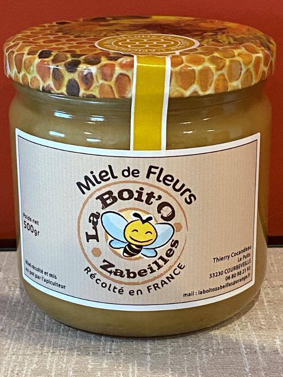 Miel de fleurs en pot de verre