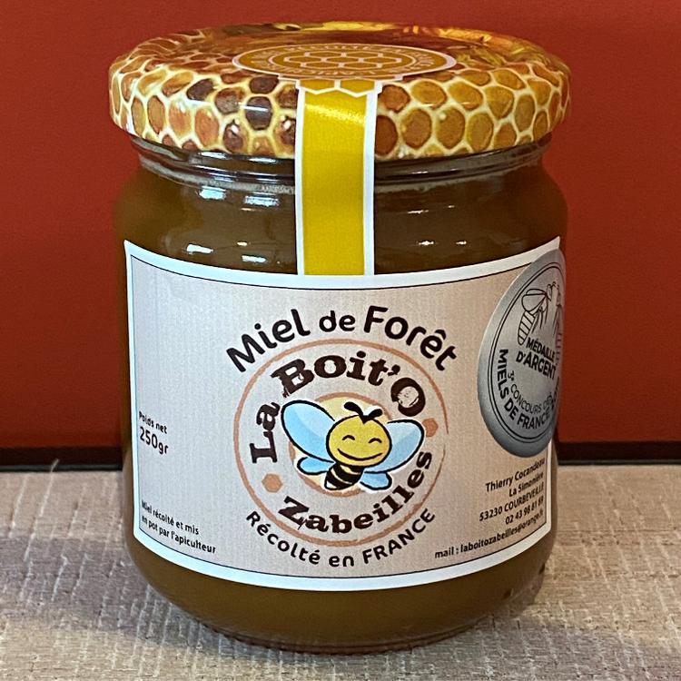 Miel de forêt en pot de verre