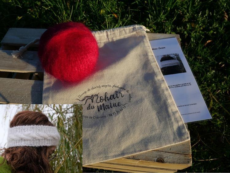 Kit tricot mohair bandeau Cocoon sans aiguille