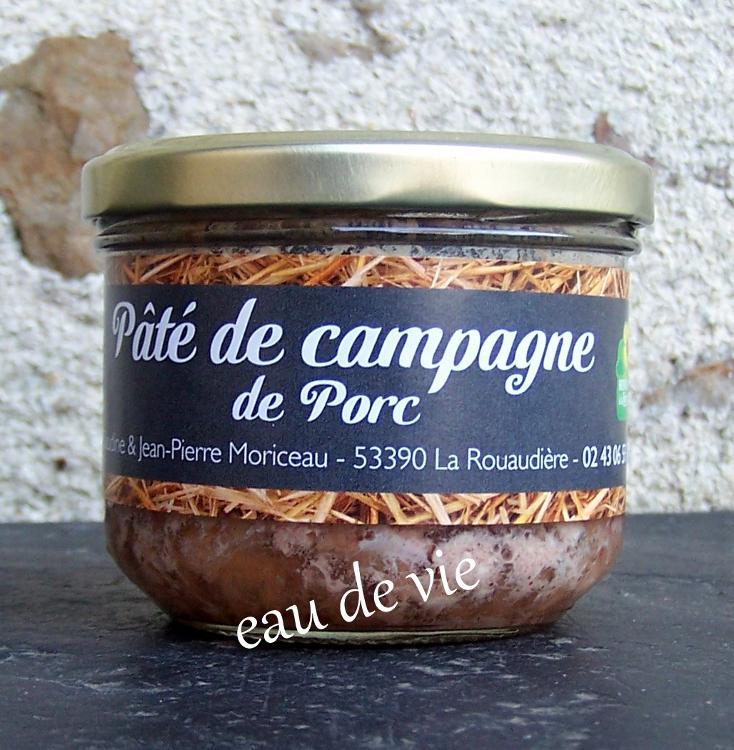 Pâté de campagne - porc- eau de vie 190 gr - Ferme la Janvrie - C & JP Moriceau