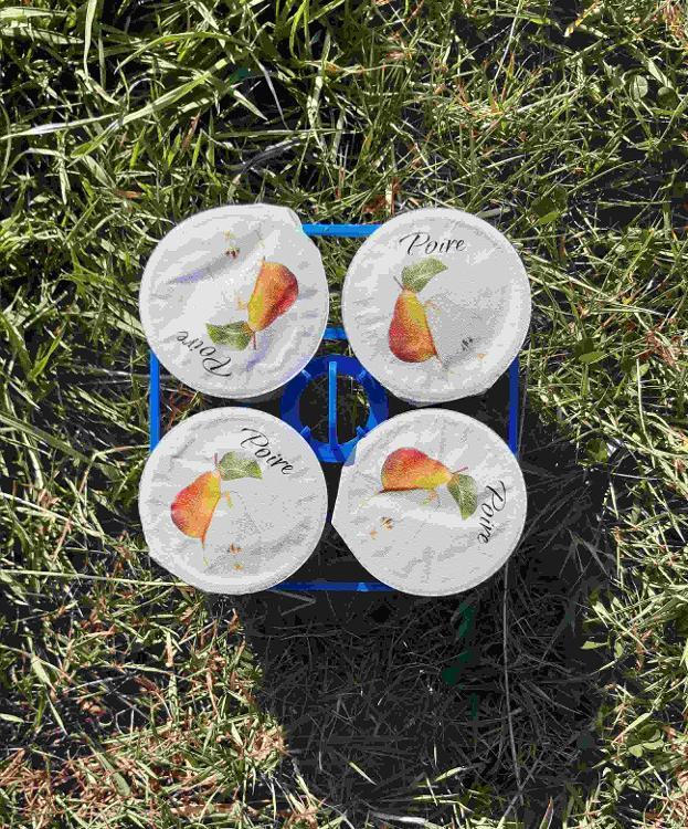 4 yaourts brassés à la POIRE au lait de chèvre