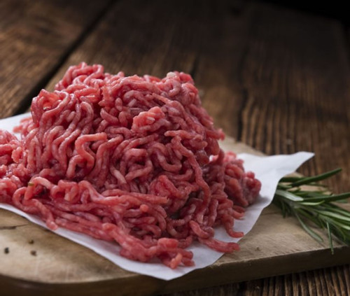 Viande hachée assaisonnée race blanc bleu (500g)