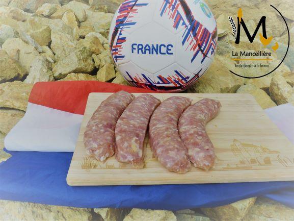 4 saucisses de poulet - La Mancellière - L'Huisserie