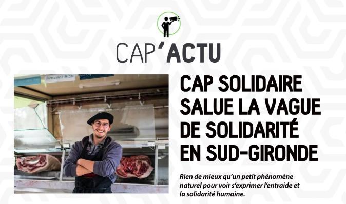 Cap Solidaire parle d'Aux prés des cuisiniers !