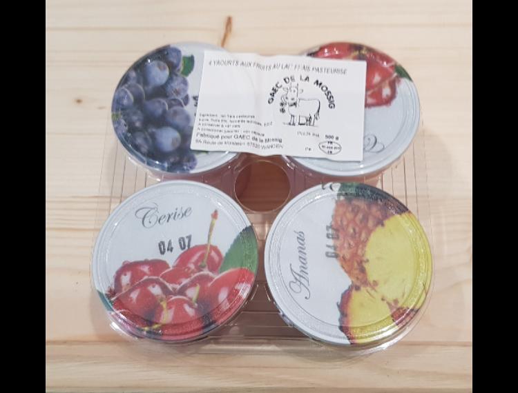 4 yaourts aux fruits