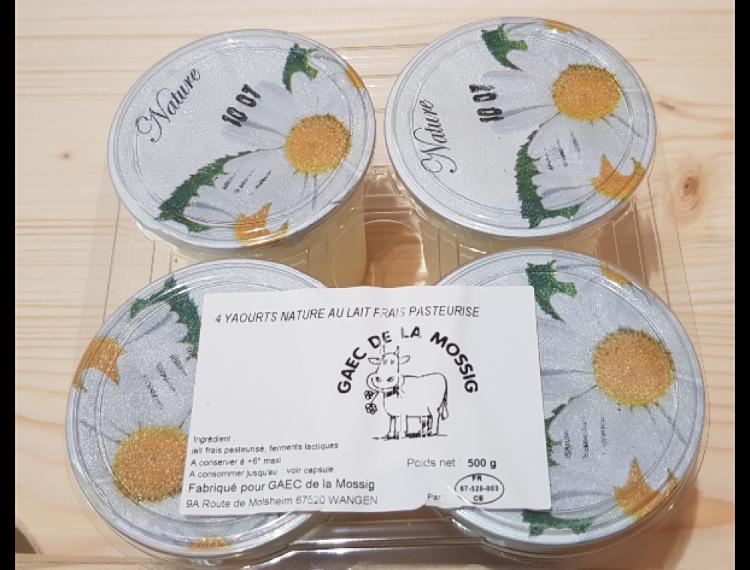 4 yaourts aromatisés à la vanille
