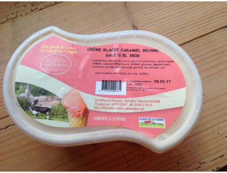 Glace au caramel beurre salé 500mL