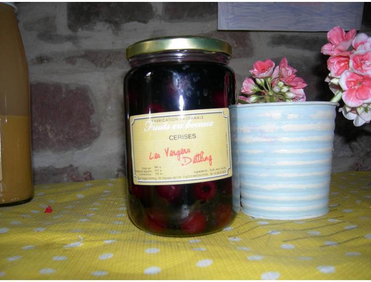 """fruits en bocaux """"Cerises"""" 750 ml"""